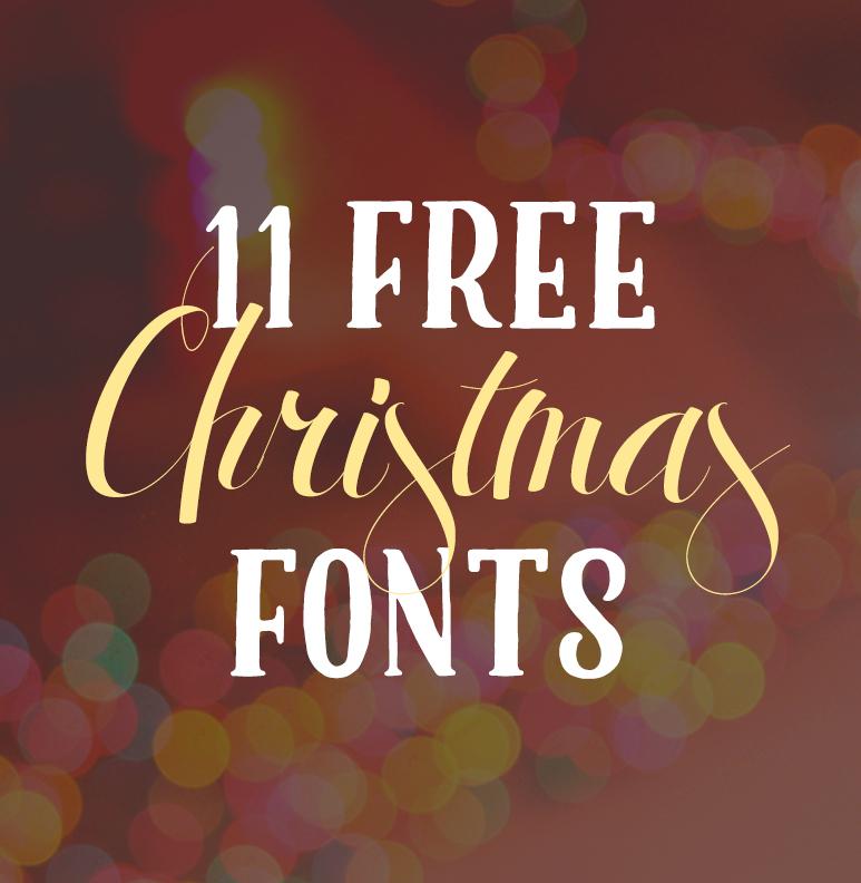 Free christmas fonts kristy good design
