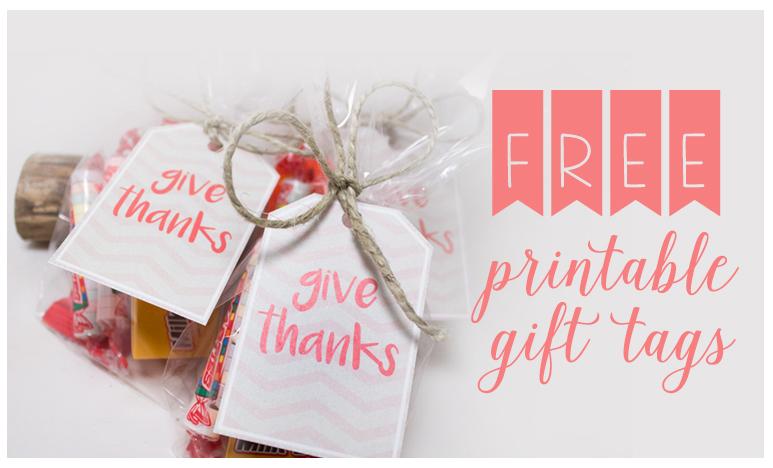 FREEBIE FRIDAY – Printable Thanksgiving gift tags