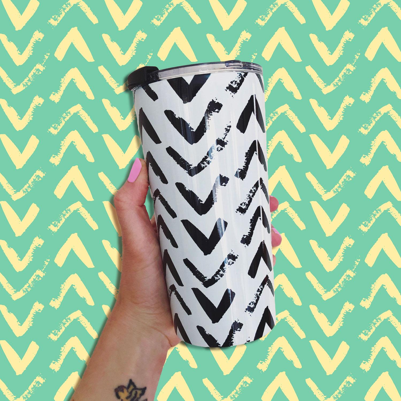 Chevrons pattern mug